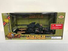 Ultimate Soldier XD 7.5cm Pak 40 WWII GERMAN ANTI TANK CANNON + Figure 1:18 NOS
