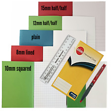7 X A5 Nota libros de ejercicio Casa Escuela Pack 80, 48, libro de 32 páginas + Regalos Gratis