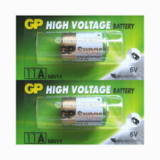 2 x Genuine GP 11A MN11 A11 GP11A E11A L1016 6v Batteries Use By Date 2021