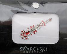 Bindi bijoux de peau mariage front strass cristal Swarovski rouge INHB  3599