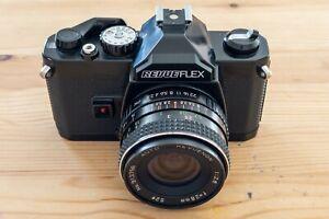 revueflex Spiegelreflex mit Objektiv und 2x converter in super Zustand