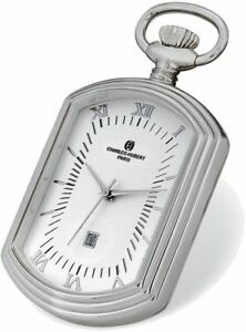 Charles Hubert Chrome Finish Open Face Rectangular Pocket Watch
