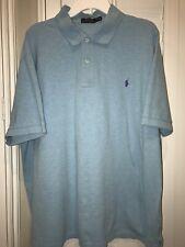 Polo Ralph Lauren Mens 2XB Aqua Blue Short Sleeve Polo Shirt