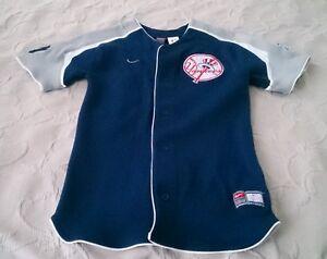CANO #22 NY New York Yankees Nike Sewn Patches Baseball Jersey Youth L 16-18