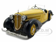 1935 AUDI 225 FRONT ROADSTER BLACK/YELLOW 1/18 DIECAST MODEL CAR BY CMC 075 A
