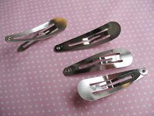 10 x 40mm acciaio inox a scatto MOLLETTE FERMACAPELLI Perfetto per fiocchi FASCE