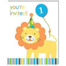 Sweet at One Boy Birthday Party Invitations (Pack of 8)