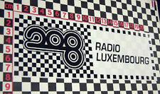 1960's Radio Luxemburgo Coche Clásico pegatina de cristal