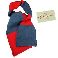 Cath Kidston cath Infantil Bufanda De Lana De Cordero Color Bloque Rojo/Blue100%