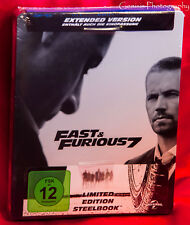 Fast And Furious 7: Paul Walker - Blu-Ray Limited Edition Steelbook Region Free