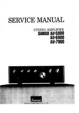Sansui AU-5900 / AU-6900 / AU-7900 Service Manual AU 5900 6900 7900