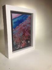 Nude Color Infrared Art Photo Printed on Metal - Framed orginal artwork