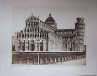 1880ca DUOMO DI PISA Enrico Van Lint foto albumina originale d'epoca 20 x 25 cm