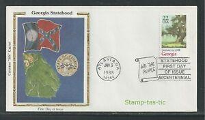 "*U.S. #2339 FDC, ""Georgia Statehood"" Silk Cachet, 1988*"