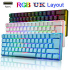 60% True Mechanical Gaming Keyboard Wired 61 Keys RGB LED Backlit for MAC PC PS4