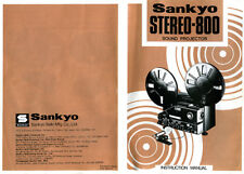 Sankyo Stereo-800 - Sound Film Projector - Instruction Manual - PDF File