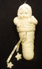 """DEPARTMENT 56 SNOWBABIES """"BABY IN MY STOCKING"""" ORNAMENT  #68827  RETIRED"""