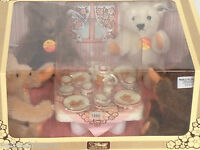 ❤STEIFF ~TEDDY BEAR TEA PARTY SET~ NEW IN BOX 0204/16 Lt Ed ABSOLUTE MINT! 1982❤