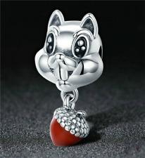 1pcs Silver  European Charm Crystal Spacer Beads Fit Necklace Bracelet