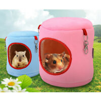 warm bed rat hammock squirrel winter toys pet hamster cage house hanging nest#%