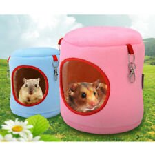 warm bed rat hammock squirrel winter toys pet hamster cage house hanging nesO_vi