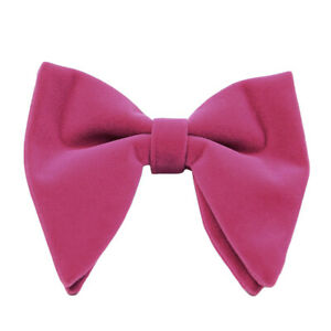 Men Velvet Oversized Bow Tie Wedding Party Tuxedo Business Solid Big Bow Tie