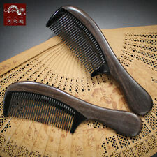 Black Buffalo Horn Comb handle Wooden Comb Massage Brush Health Care Hair Comb