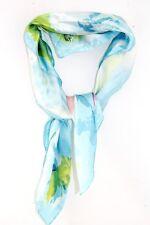 LADIES RETRO BABY BLUE OIL PAINTING DESIGN ARTSY CUTE SCARF/ NECK TIE (MS9)