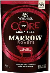Wellness Core Marrow Roasts Natural Grain Free Dog Treats Dog Snack  8-Ounce Bag