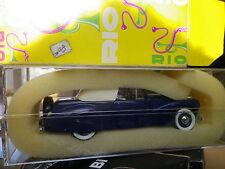 RIO n° 43 LINCOLN CONTINENTAL 1941 bleue état neuf en boite avec notice