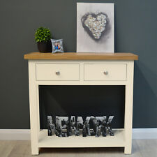 Cotswold Cream Painted Console Table / Oak Hall Table / Solid Hallway Storage