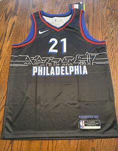NWT NBA 2020-21 NIKE JOEL EMBIID Philadelphia 76ers City Edition Swingman Jersey