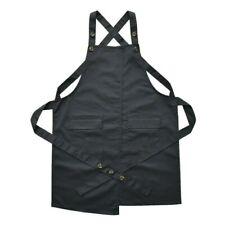 Unisex Canvas Waterproof Aprons Bib Kitchen Chef Waitress Workwear Uniform Women