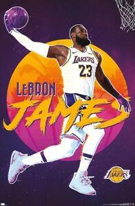 LEBRON JAMES - LOS ANGELES LAKERS - 2020 POSTER - 22x34 - NBA BASKETBALL 20198