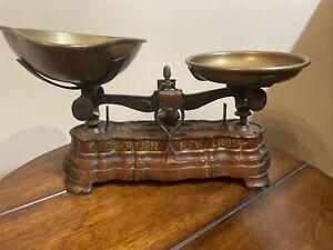 Vintage French Kitchen 1 Pound Balance Scale  Brass Pans
