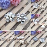 2pcs 6 Styles Rhinestone Crystal Wedding Bridal Shoe Clips Women Chic Craft