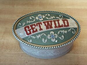 Cowgirl Buckle Box (trinket box) new from Vandor