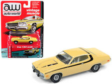 Auto World 1/64 1974 Plymouth Road Runner Diecast Model Car Yellow (AWSP002 A)