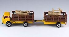 Matchbox Cattle Truck Pink Windows MB 71 Plus Trailer Macau Mint Loose 1984