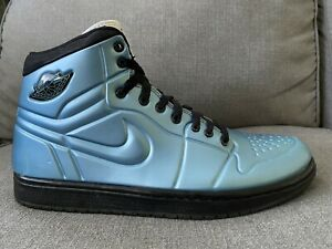 Nike Air Jordan I Blue Anodized Foamposite Armor Men's Size 9.5