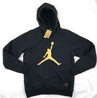 Nike Air Jordan OVO Drake Pullover Hoodie Black Gold 826737-010 Men's S-XL