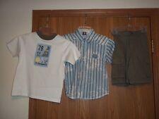 Class Club 3T Shorts T-Shirt Button Front Shirt Surf Beach NWT