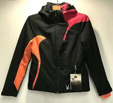 Spyder Prevail Women's Winter Snow Ski Jacket Black Orange Pink Size 4 NEW
