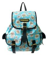 LYDC Floral Print Fabric Rucksack Backpack Daisies Dandelions School College Bag