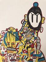 Hasworld original Ink Drawing, painting Signed,pop Art,Abstract,street Art,urban