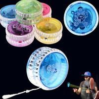 1x Flashing LED Glow Light Up YOYO Colorful Yo-Yo Toy For Kids Children Fun Toy
