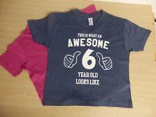 THIS IS sorprendente 2 4 6 8 10 OR 12 años Camiseta Para Niñas O Niños
