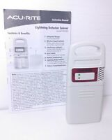 AcuRite 06045M Lightning Detector Sensor with Temperature and Humidity W/ Manual