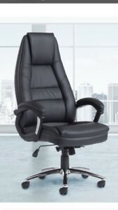 Large New High Back Leather Executive Office Chair Tilt Action