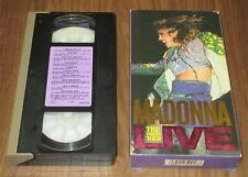 Japan OFFICIAL VHS video tape MADONNA card box issue THE VIRGIN TOUR LIVE - NTSC